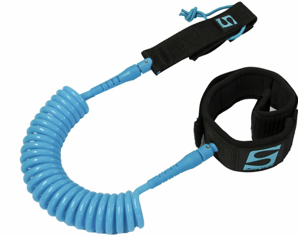 Picture of a coiled sup leash